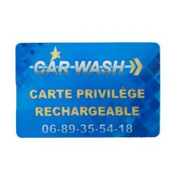 Carte Privilège rechargeable