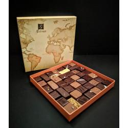 Chocolats coffret Map, 43 chocolats, 350g